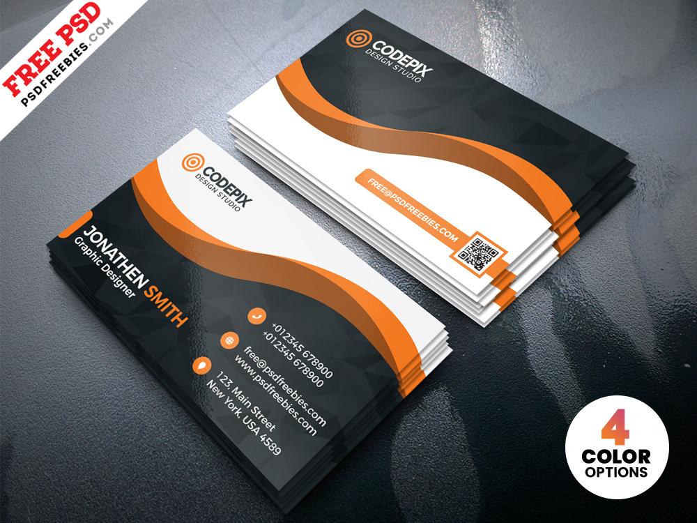 Modern Business Card Designs Template Psd | Psdfreebies Pertaining To Psd Visiting Card Templates