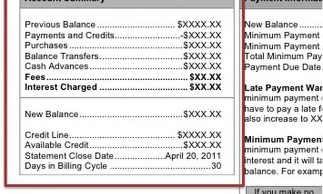 Monthly Credit Card Statement Walkthrough with Credit Card Bill Template