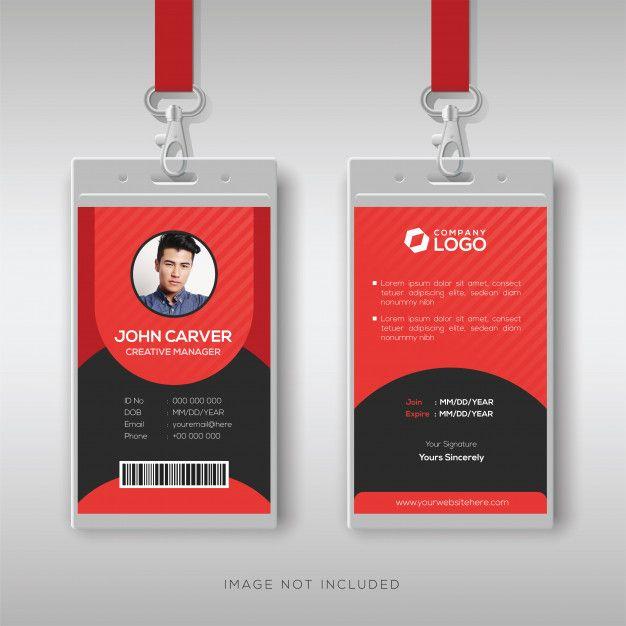Multipurpose Red Id Card Design Template | Graphic Design with regard to Media Id Card Templates