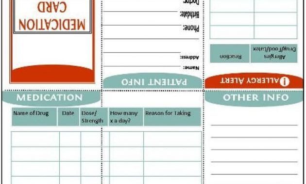 New Bee Homeschooler – Home Management Binder | Medical regarding Medication Card Template