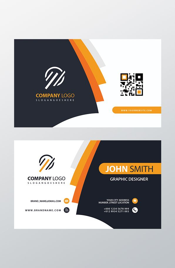 Orange Elegant Corporate Business Card Psd | Business Cards Throughout Advertising Cards Templates