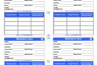 Patient Medication Card Template I 2020 for Medication Card Template