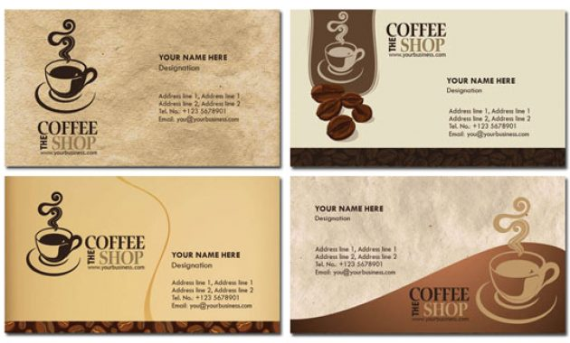 Photoshop Coffee Business Cards Design pertaining to Coffee Business Card Template Free