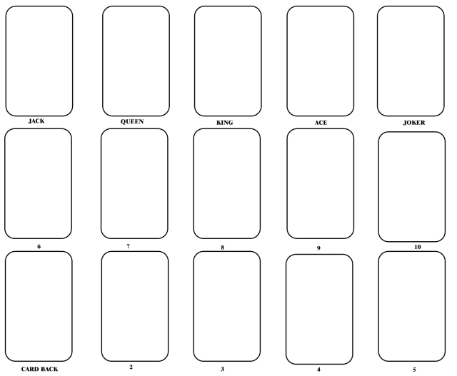 Playing Card Templates - Free Download | Printable Playing in Free Printable Playing Cards Template