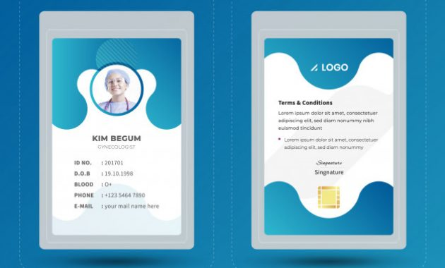 Premium Vector | Medical Staff Id Card Template in Hospital Id Card Template