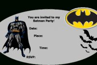 Print Instructions Batman Party Decorations Batman S Main pertaining to Batman Birthday Card Template
