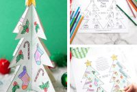 Printable Christmas Tree Template | Little Bins For Little Hands For 3D Christmas Tree Card Template