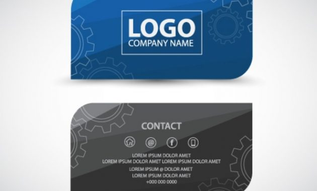 Professional Business Card Template Free Vector In Adobe intended for Professional Business Card Templates Free Download