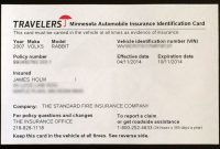 Proof Of Auto Insurance Template Free | Car Insurance, Card with regard to Proof Of Insurance Card Template
