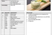 Recipe Manual Template regarding Restaurant Recipe Card Template