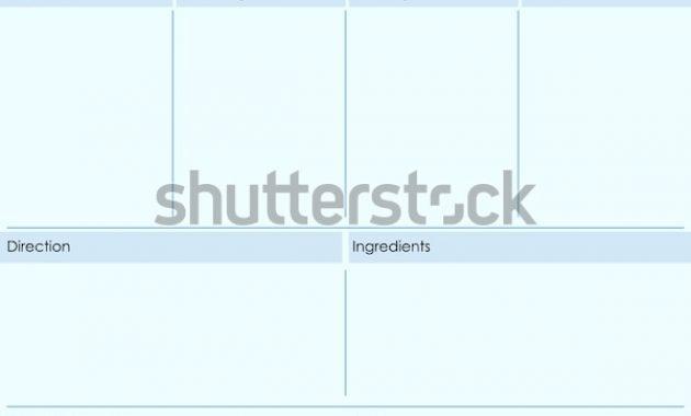 Restaurant Recipe Kitchen Note Template Menu Stock pertaining to Restaurant Recipe Card Template