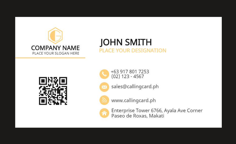 Simple Professional Business Card Template – Personalized Design With Professional Name Card Template