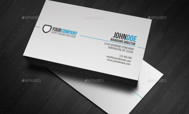 Simple Professional Business Card With Regard To Professional Name Card Template