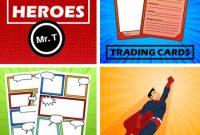 Superheroes -> Comic Strip Templates + Trading Card inside Superhero Trading Card Template