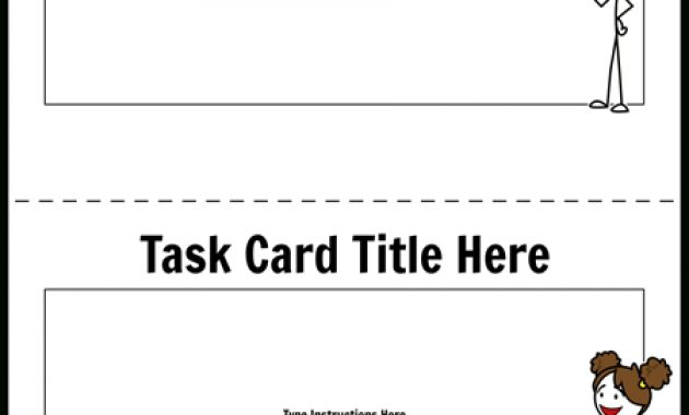 Task Card Template 1 Storyboardworksheet Templates With Task Card Template