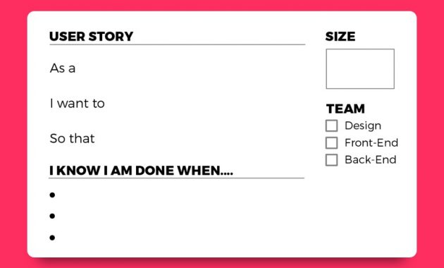 User Story Cardsscott Thomas On Dribbble inside Agile Story Card Template
