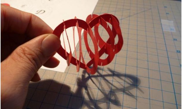 Valentine's Day Pop Up Card: 3D Heart Tutorial – Creative in 3D Heart Pop Up Card Template Pdf