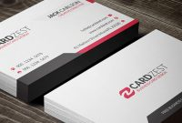 Vibrant Red Professional Business Card Template » Cardzest With Professional Name Card Template