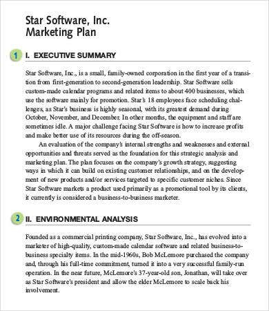 12+ Best Executive Summary Templates & Samples – Pdf For Awesome 1 Page Business Plan Templates Free