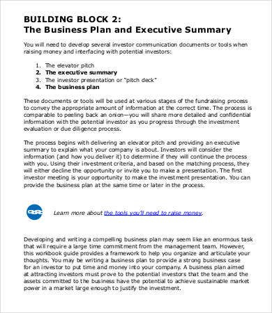 12+ Best Executive Summary Templates & Samples – Pdf Pertaining To 1 Page Business Plan Templates Free