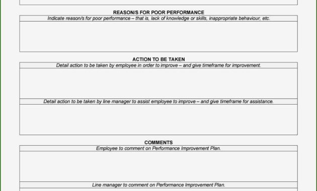16 Formidable Performance Improvement Plan Template Word intended for Business Process Improvement Plan Template