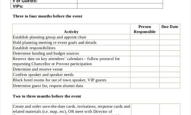 19+ Event Checklist Templates – Word, Pdf, Google Docs intended for Party Planning Business Plan Template