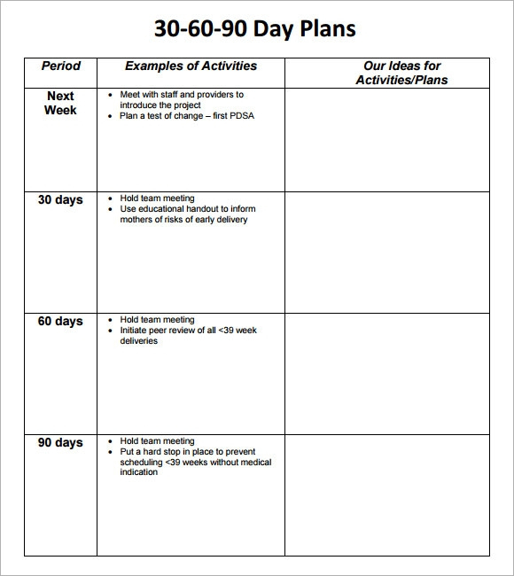 30 60 90 Day Plan Template – 8+ Free Download Documents In Pdf Regarding 30 60 90 Business Plan Template Ppt
