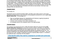 46 Great Safety Plan Templates (Construction, Site intended for Health And Safety Policy Template For Small Business