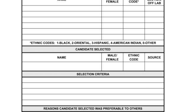 Applicant Selection Criteria Record Template  Business pertaining to New Business In A Box Templates