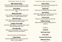 Barbecue Catering Menu In 2020 | Catering Menu, Bbq intended for Free Poultry Business Plan Template