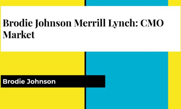 Brodie Johnson Merrill Lynch: Cmo Market |Authorstream with regard to Merrill Lynch Business Plan Template