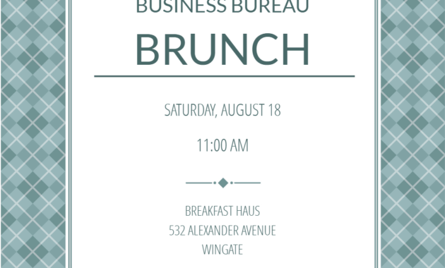 Business Casual – Business Event Invitation Template (Free inside Save The Date Business Event Templates