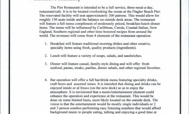 Business Plan Template Restaurant Free Download within Amazing Free Laundromat Business Plan Template
