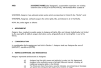 Copyright Assignment Template  Business-In-A-Box™ for Business In A Box Templates