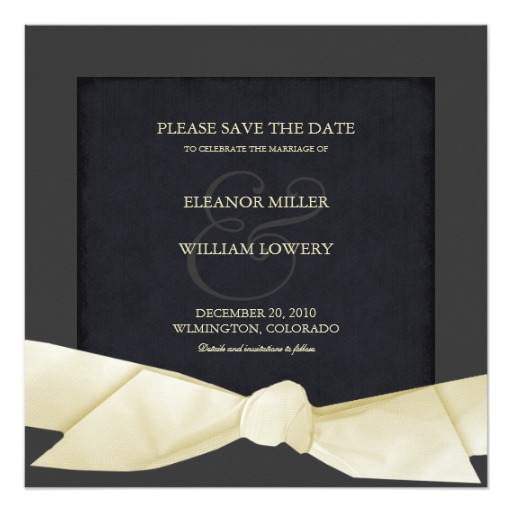 Cream And Black Formal Save The Date Invitations Square Within Save The Date Business Event Templates