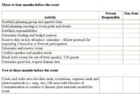 Download Event Planning Timeline And Checklist Template throughout Best Party Planning Business Plan Template