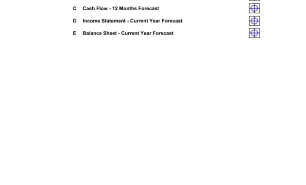 Financial Projections 12 Months Template  Business-In inside New Business In A Box Templates