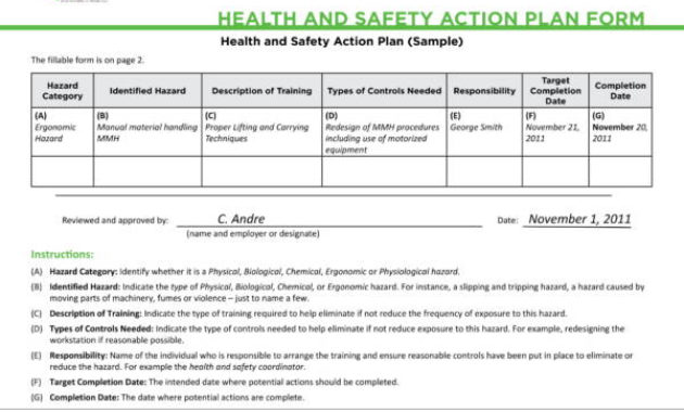 Free 14+ Health And Safety Plan Templates In Pdf   Google inside Amazing Health And Safety Policy Template For Small Business