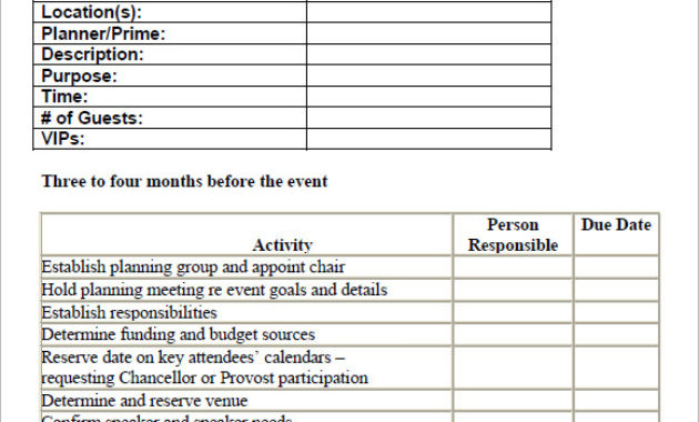 Free 16+ Sample Event Planning Checklist Templates In pertaining to Party Planning Business Plan Template