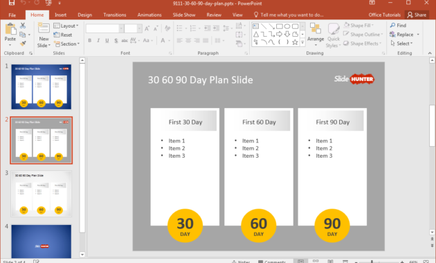 Free 30 60 90 Day Plan Powerpoint Template In Fresh 30 60 90 Business Plan Template Ppt