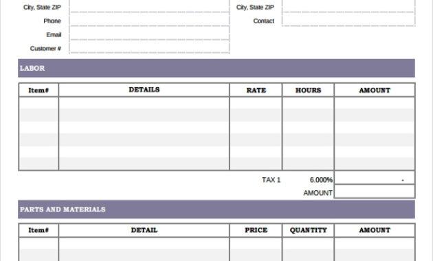 Free 6+ Hvac Invoice Examples & Samples In Google Docs regarding Free Hvac Business Plan Template