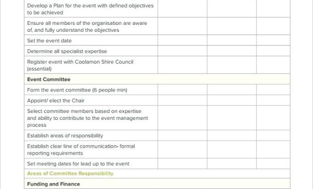 Free Event Planning Worksheet Template throughout Party Planning Business Plan Template