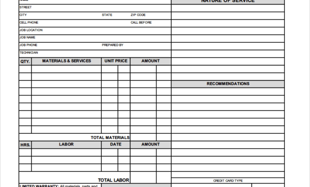 Free Hvac Invoice Template In Air Conditioning Invoice with Free Hvac Business Plan Template