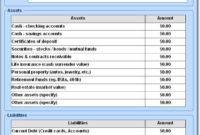 Free Personal Financial Statement Template Unique Personal Inside Awesome Financial Statement For Small Business Template