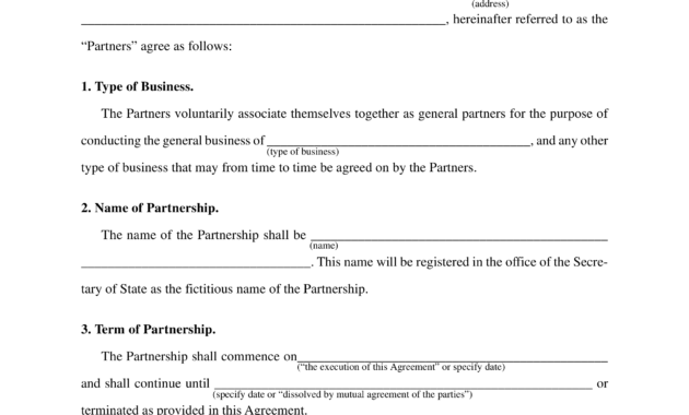 General Business Partnership Agreement Sample | Templates with regard to How To Make A Business Contract Template