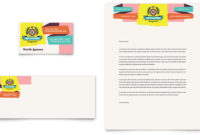 Kids Consignment Shop Business Card & Letterhead Template in Clothing Store Business Plan Template Free