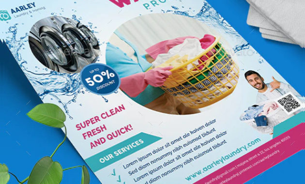 Laundry Flyer Template – 19+ Free & Premium Download with regard to Free Laundromat Business Plan Template