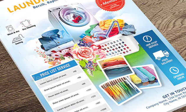 Laundry Flyer Templates – Psd, Ai, Vector, Free & Premium with regard to Free Laundromat Business Plan Template