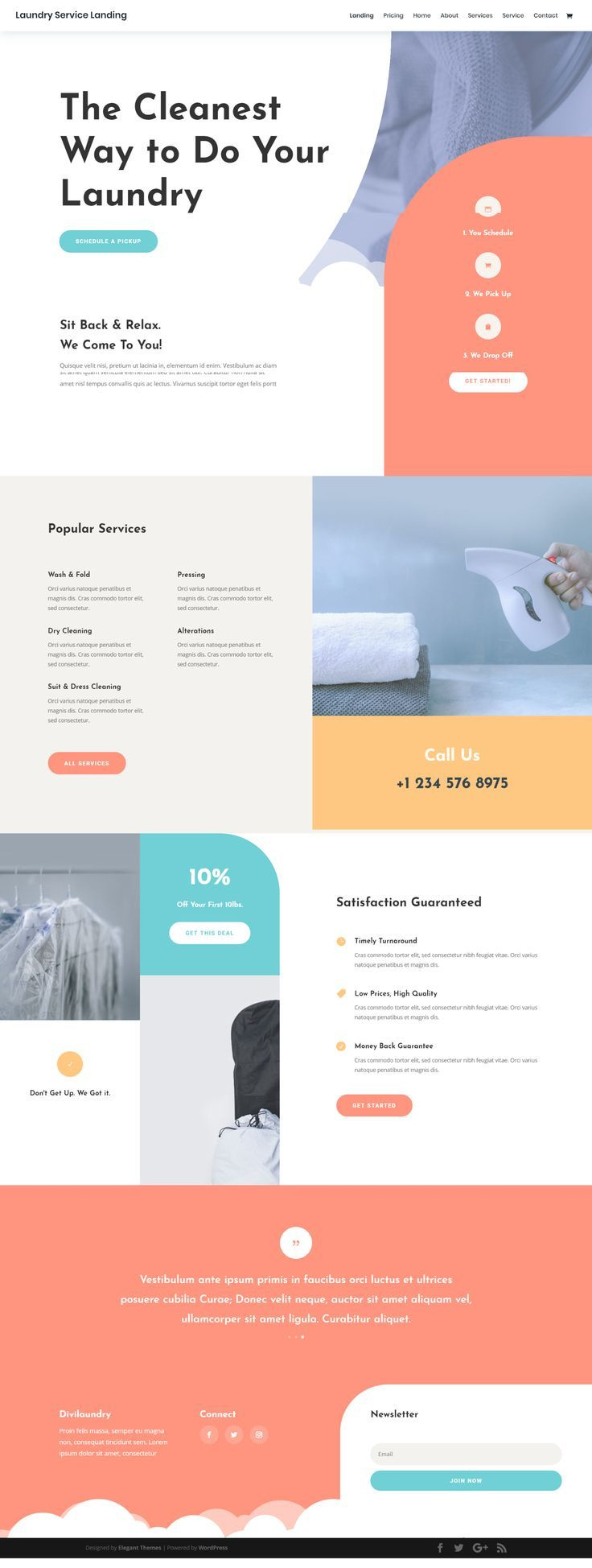 Laundry Service Landing Page | Laundry Service, Website throughout Amazing Free Laundromat Business Plan Template