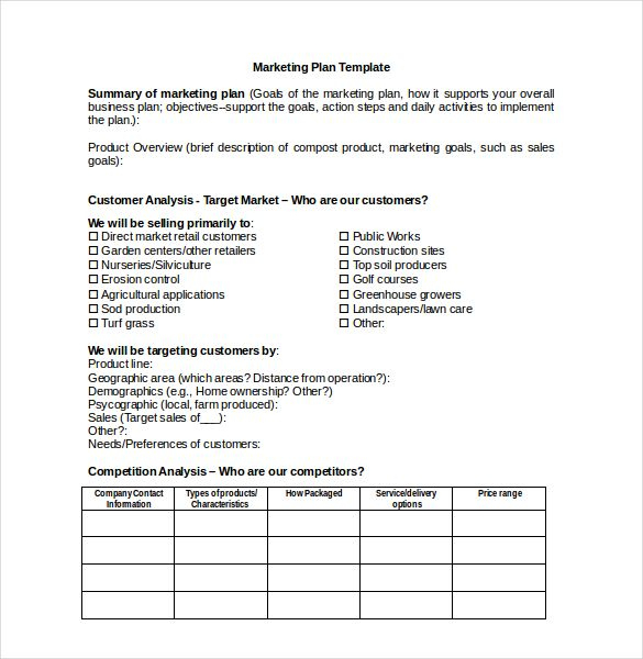 Marketing Plan Templates, 20+ Formats, Examples And With Regard To Free Poultry Business Plan Template